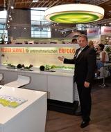 Mit dem Messeauftritt auf der Futura machte EP:Chef Friedrich Sobol der Kooperations-Devise alle Ehre.