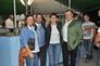 Schäcke Niederlassungsleiter Martin Stampfl (2.v.l) und Heinz Wieger (rechts) Leitung Konsumgüter NL Salzburg in bester Gesellschaft am Schäcke Oktoberfest