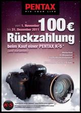 Beim Kauf einer Pentax K-5 100 Euro sparen