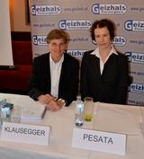 Claudia Klausegger von der WU Wien und Vera Pesata von Geizhals präsentierten heute Mittwoch die neue Händler-Studie.