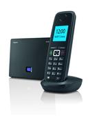 Über die Basisstation des Gigaset A510 IP lassen sich bis zu drei Gespräche gleichzeitig führen: zwei über VoIP und eines über das Festnetz.