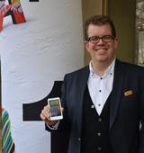 HTC Country Manager Eric Matthes bei der heutigen Präsentation des HTC Velocity 4G: