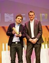 Die Loewe Designer Marco Mueller & Edmund Englich (v.l.n.r.) bei der Award-Zeremonie