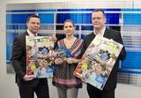 Branchensprecher Thomas Poletin, Susanne Cochlar (FEEI Kommunikation) und Peter Pollak, Sprecher des Elektro.Kleingeräte-Forums (v.l.) setzen abermals die Kleingeräte ins richtige Licht.