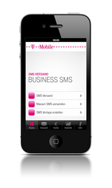 web.SMS von T-Mobile kann vom Smartphone, oder ...