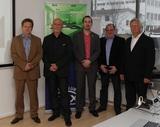 Die Experten: Franz Reichenbach und Eddy Reiss (beide Züblin), Roland Schweighofer (LKA Innsbruck), Andreas Fabitsch (Obmann des KNX-Userclub Austria) und Thomas Lenitz (ABB).