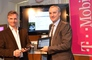 Deezer-CEO Axel Dauchez und Robert Chvatal, T-Mobile CEO und bekennender Heavy User, heute bei der Vorstellung des neuen Angebots.