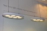 Philips zeigte LED-Technik für alle Bereiche: Für innen zB die LUNISTONE LED Pendelleuchten...