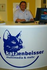 Hannes Katzenbeisser, Chef von multimedia und mehr, nahm den Einbruch trotz allem mit Humor.