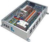 Die Flexroom-Verteiler kommunizieren über das Modbus-TCP-Protokoll. Sie sind standardmäßig in drei Ausführungen erhältlich: für 8, 16 und 24 Raumachsen.