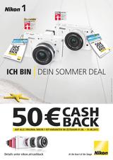 Zur Nikon 1 gibt es ab Anfang Juni eine attraktive Cashback-Aktion von Nikon.