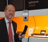 Eduard Schmidhofer, GF Gigaset Österreich, kann sich über eine große Aufmerksamkeit für Gigaset pro freuen.
