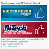Ein Schlag auf dem anderen: Nach Niedermeyer setzt auch DiTech auf die neue Empfehlungsplattform finderly.com.