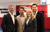 Die neuen Führungskräfte Gerhard Korn (DiTech-Leitung Marketing & PR) und Arieh Bolyos (DiTech Verkaufs & Marketing Direktor) mit Aleksandra und Damian Izdebski (DiTech-Gründer)