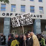 Die Künstler demonstrierten gestern für die Festplattenabgabe. (Copyright aller Fotos: Musikergilde)
