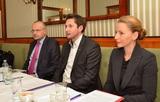 Helmut Pfeifenberger, Director & General Manager Brother Österreich, DiTech-GF Damian Izdebsky und Renata Hrnjak, Legal Affairs Manager Samsung, bei der Vorstellung der Plattform.