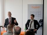 CEO Eduard Schmidhofer und Marian Rudolf Mayer, Senior Manager Sales, heute bei der Vorstellung des Gigaset Partner Programms.