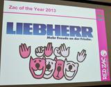 Liebherr wurde zum Red Zac of the Year 2013 ausgezeichnet.
