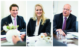 Helfen statt feiern: Der Wertgarantie-Vorstand, Vorsitzender Thomas Schröder sowie Vorstände Susann Richter und Johannes Schulze kündigen ein Wertgarantie-Hilfsprogramm für Hochwasseropfer unter den Fachhändlern an.
