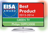 """TP Vision gibt bekannt, dass zwei Philips TVs als Sieger aus dem Wettbewerb um die renommierten EISA-Awards hervorgegangen sind: Der 50PFL5008 wurde als """"Europas Green TV 2013 – 2014"""" ..."""