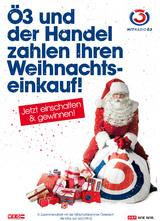 """Handel und Ö3 starten auch dieses Jahr wieder in der Vorweihnachtszeit mit der Aktion """"Das Große Ö3-Christmas-Shopping"""