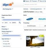 72% der deutschen Onliner nutzen Preisvergleichsplattformen wie eine Studie von TNS Infratest aufzeigt. (Foto: Screenshot billiger.de)