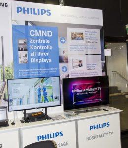 …Android-basierte Hotel-TV und Signage Lösungen von Philips mit innovativer CMND-Software…