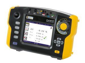 Der Installationstester CA 6117 ist für Erst- und Wiederholungsprüfungen von elektrischen Anlagen nach ÖVE/ÖNORM E8001 und für alle Netzsysteme ausgelegt. (©Chauvin Arnoux)