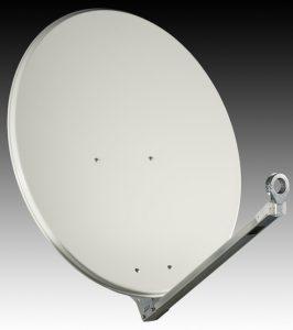 Die neue Sat-Antennen Qualitätsserie von estro (hier abgebildet die AF-Serie) ist in den Farben leichtgrau, …