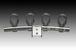 Für die neuen Sat-Spiegel hat estro auch das passende Zubehör – u.a. eine Aluminium Multifeedschiene für 4 Satelliten –parat.