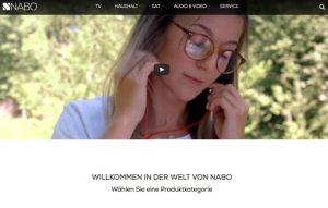 Auf der neuen Homepage werden die Besucher mit dem Nabo-Imagevideo begrüßt, um gleich voll in die Nabo-Welt eintauchen zu können.