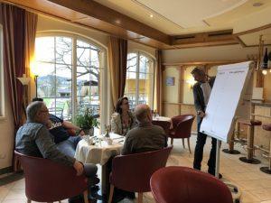 Gemeinsam mit dem auf  Vertriebs- und Unternehmenstrainings spezialisierten Trainer Gerald Geretschläger entwickelten die Experten auch Masterpläne für die Umsetzung des Erlernten, für die bessere Ausrichtung und Schärfung der eigenen Unternehmensstrategie.