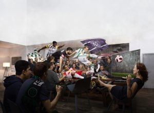 """""""Wo Fußball zu Hause ist"""" – mit diesem Claim präsentierte Sky die größte und aufwendigste Marketingkampagne des Jahres für die neugestaltete Tipico Bundesliga. (©Petrus Olsson)"""