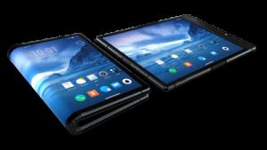 """Der Bildschirm des """"FlexPai"""" lässt sich in der Mitte umbiegen. Dadurch wird das Tablet quasi zu einem Handy zusammengefaltet. Richtig bündig wird das FlexPai-Handy dabei allerdings nicht, wie Produktfotos zeigen. (Foto: Royole)"""