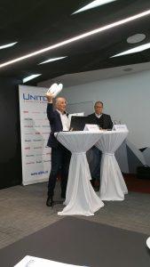 """Die Unito, der größte heimische E-Commerce Player mit Sitz in Österreich, erzielte im vergangenen Geschäftsjahr einen Online-Umsatz von 396 Millionen Euro. """"Österreich als wichtigster Markt wuchs somit um 3,3% gegenüber dem Vorjahr"""", so Unito GF Harald Gutschi (links im Bild)."""