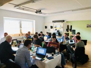 Der Nachmittag der Schulung war jeweils ein Workshop, wo jeder Kunde ein Testprojekt erstellte – das vorgegebene Testprojekt war zugleich die Prüfung zum Kramer Control Zertifikat.