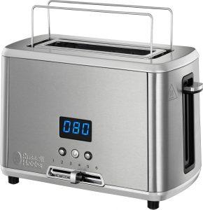 Der Compact Home Mini-Toaster ist mit einer Höhe von 18 cm sehr handlich und bietet Platz für eine Scheibe Brot