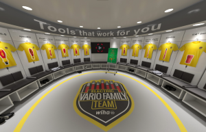 Im neuen Wiha Virtual Reality (VR)-Room lernt man nicht nur die einzelnen Profis im Detail kennen, sondern in der Mannschaftskabine ebenso beispielhafte Spielzüge und echtes Stadion-Feeling in der Arena.