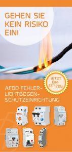 AFDDs minimieren das Risiko elektrisch gezündeter Brände in Endstromkreisen durch die Erkennung serieller und paralleler Fehlerlichtbögen.
