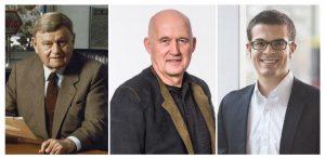 Die drei Wiha prägenden Generationen: Firmengründer Willi Hahn, sein Sohn Wilfried Hahn, der auch heute noch Teil der Geschäftsleitung ist, und der aktuelle Geschäftsführer Wilhelm Hahn.