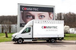 Ab Mai ist der rollende Messestand von Comm-Tec wieder in Österreich unterwegs.
