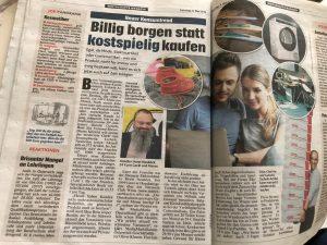 """Elektrohändler Horst Neuböck ist Vorreiter in Sachen """"mieten statt kaufen"""" in Österreich. Nun wurde in einer österreichischen Tageszeitung groß darüber berichtet. (Bild: Foto kronenzeitung)"""