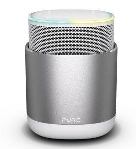 Die Zusammenarbeit zwischen Aqipa und Pure wird auf ganz Europa ausgedehnt – das soll bestehende und vor allem neue Produkte wie den Smart Speaker DiscovR (im Bild) rasch am Markt voranbringen.