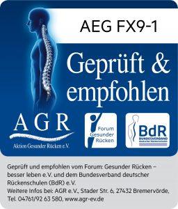 """Der FX9 und der CX7-2 von AEG sind die ersten kabellosen Akku-Handstaubsauger, die von der """"Aktion Gesunder Rücken"""" ausgezeichnet wurden. (Bild: AGR)"""