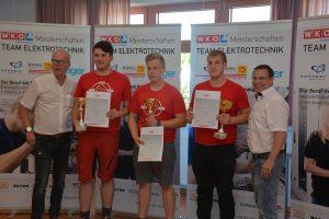 Schlussendlich setzte sich Denis Ilyes vor Niklas Mayerhofer und Alexander Putz durch –wobei zur Freude von BIM Andreas Wirth (re.) durchwegs gute Leistungen gezeigt wurden.