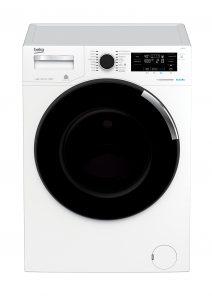 Diese Wachmaschine dosiert ganz von alleine: Die Beko WTV 8744 D Die Wäsche muss man noch selbst einfüllen, aber um das Waschmittel kümmert sich die Waschmaschine selbst.
