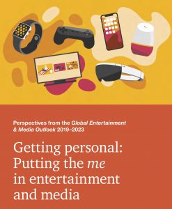 Laut dem Global Entertainment & Media Outlook von PwC steigen die globalen Gesamtausgaben im Bereich Unterhaltung und Medien bis 2023 um 4,3% auf 2,6 Billionen USD.
