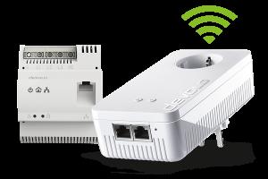 Der devolo dLAN pro 1200 DINrail Powerline Hutschienenadapter macht die Stromleitungen zum High-Speed-Netzwerkkabel – zentral vom Sicherungskasten aus.