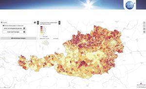 Die vom Klima- und Energiefonds gemeinsam mit Statistik Austria und OeMAG erstellte Landkarte zu PV-Anlagen zeigt den Sonnenstrom-Ausbau in Österreich auf einen Blick.