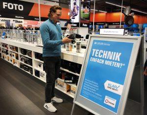 Nach MediaMarkt, bietet nun auch Saturn in Deutschland Geräte stationär zur Miete an. (Bild: Saturn)